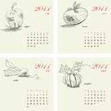 Template for calendar 2011. Stock Images