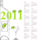 Template for calendar 2011. Universal template for greeting card, web page, background Royalty Free Stock Photography