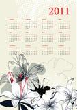 Template for calendar 2011 Stock Image