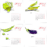 Template for calendar 2011. Vegetable. Royalty Free Stock Image