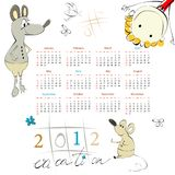 Template for calendar 2012 Royalty Free Stock Photography