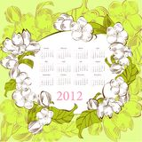 Template for calendar 2012 Stock Photos