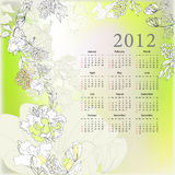 Template for calendar 2012 Stock Image