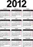 Template for calendar 2012. Vector Stock Images