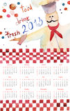 Template for calendar for 2013 Stock Images