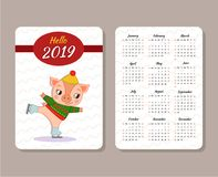 Template of calendar stock illustration