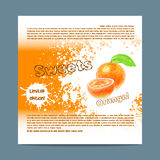 Template candy packaging. Orange sweets. Royalty Free Stock Photos