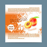 Template candy packaging. Peach sweets. Royalty Free Stock Images