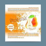 Template candy packaging. Pear sweets. Royalty Free Stock Image