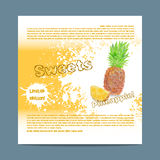 Template candy packaging. Pineapple sweets. Royalty Free Stock Photos