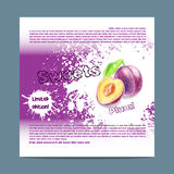Template candy packaging. Plum sweets. Royalty Free Stock Photography