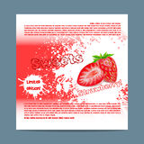 Template candy packaging. Strawberry sweets. Stock Photo