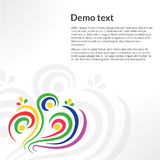Template card with abstract elements and colored waves Royalty Free Stock Photo