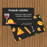 Template for card or booklet with cartoon french Stock Image