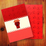 Template of card with cherry jam Royalty Free Stock Image