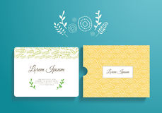 Template card and envelope for wedding, marriage Stock Photo