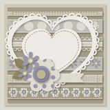 Template of card Happy Valentines Day Royalty Free Stock Photos