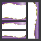 Template card radiant orchid tone Stock Image
