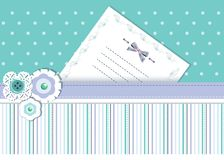 Template card with ribbons and place for text Royalty Free Stock Image