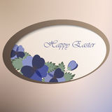 Template card with spring flowers Royalty Free Stock Image