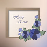 Template card with spring flowers Stock Photography