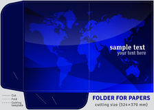 Template cardboard folder for papers sheets of A4 Stock Photography