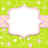 Template cards for the girl, , eps10 Stock Photos