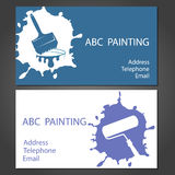 Template cards for painting Royalty Free Stock Photo