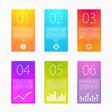 Template cards vector. Info graphic design template and marketing icons, Business concept with 6 options, steps or processes. Can be used for workflow layout Royalty Free Stock Image