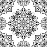 Template for carpet, shawl. Vector seamless oriental pattern on a white background. Template for carpet, shawl, wallpaper, textiles, cushions, tapestry Stock Photography