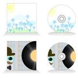 Template of CD design Royalty Free Stock Photos