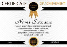 Template certificate of achievement. Elegant background. Winning Royalty Free Stock Image