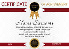 Template certificate of achievement. Elegant background. Winning Royalty Free Stock Images
