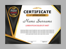 Template certificate of appreciation. Elegant background. Winnin Stock Images