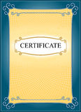 Template for certificate background. Royalty Free Stock Image