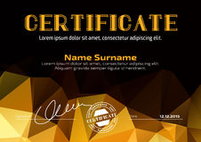 Template in certificate, currency and diplomas Royalty Free Stock Photos
