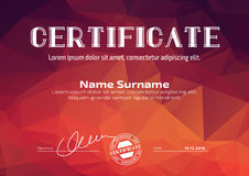 Template in certificate, currency and diplomas Stock Image