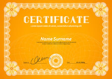 Template in certificate, currency and diplomas Stock Photography