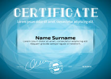 Template in certificate, currency and diplomas stock illustration