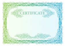 Template certificate, currency and diplomas. Stock Photos