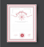 Template certificates with flowers and rosette to be awarded. Royalty Free Stock Images