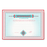 Template certificates in soft colors with an Royalty Free Stock Image