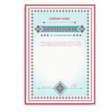 Template certificates in soft colors with an Stock Photo