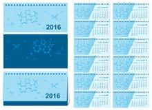 Template changeover desk calendar 2016. Loose-leaf calendar. Illustration in vector format Royalty Free Stock Image