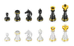 Template of chess pieces Royalty Free Stock Photo