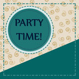 Template for Child Party Cover Postcard Copyspace Stock Photos