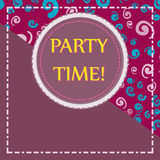 Template for Child Party Flyer Print Royalty Free Stock Photography
