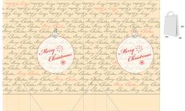 Template for Christmas bag Royalty Free Stock Photo