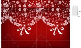 Template for christmas bag Royalty Free Stock Image
