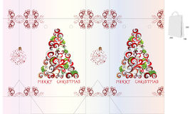 Template for christmas bag design Royalty Free Stock Image